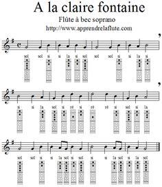 A la claire fontaine à la flûte à bec Easy Sheet Music, Easy Piano Sheet Music, Flute Sheet Music, Piano Songs, Music Songs, Music Lessons, Guitar Lessons, Partition Flute A Bec, How Did It Go
