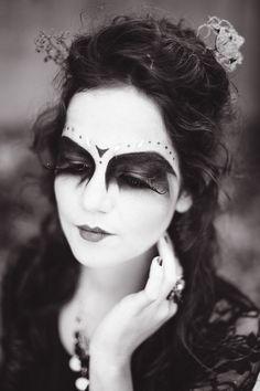 Halloweenportrait von Jacqueline Traub. Haare & Make-Up: Martina Bernburg.