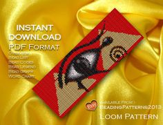 Loom Pattern Bracelet Cuff Beading Miyuki Delica Size 11 Beads - PDF Download - Egypt - Egyptian Eye de BeadingPatterns2013 en Etsy https://www.etsy.com/es/listing/163243380/loom-pattern-bracelet-cuff-beading