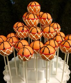 New basket ball cake decorations baby shower ideas Basketball Cake Pops, Football Cake Pops, Basketball Gifts, Purple Velvet Cakes, Team Snacks, Basketball Birthday Parties, Keto, Cakes For Boys, Baskets On Wall