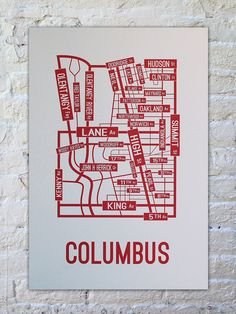 Ohio State Buckeyes gift, map of OSU's campus in a poster. Such a great idea! Only $22!