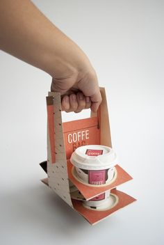 Café bolsa (Transportador de café) por Camila Henríquez, a través de Behance