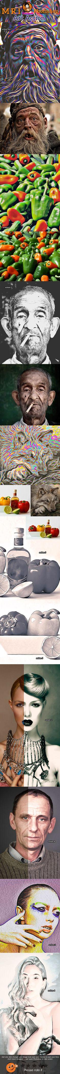 Oil Art Action  — Photoshop Action #HDR Action #mri art • Download ➝ https://graphicriver.net/item/oil-art-action/9693907?ref=pxcr