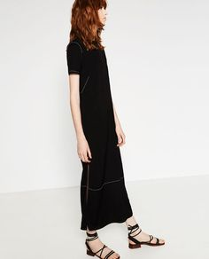 Image 6 of STUDIO TOP-STITCHED DRESS from Zara