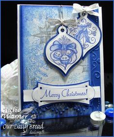 Blue Ornaments TLC346 FS244 by justwritedesigns - Cards and Paper Crafts at Splitcoaststampers