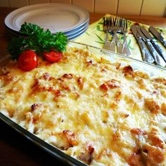 Edels Mat & Vin: Mac 'n' cheese med mais & bacon ♫♪ Macaroni Cheese, Macaroni And Cheese, Recipe Boards, Bacon, Food And Drink, Cooking Recipes, Pasta, Dinner, Breakfast