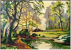 "paint zinc on sale at reasonable prices, buy Vintage Mid Century Art Award Paint By Number ""Autumn Landscape"" Painting (no Framed) from mobile site on Aliexpress Now! Landscape Quilts, Landscape Art, Landscape Paintings, Paint By Number Vintage, Arts Award, Mid Century Art, Pictures To Paint, Painting Inspiration, Vintage Art"
