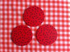 Porta-copos melancia
