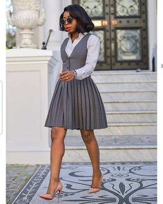 12 Hawt Corporate Styles-(This Is How To Start The Week On A Right Note) – A Million Styles - corporate style 80s Style Outfits, Classy Work Outfits, Mode Outfits, Classy Dress, Chic Outfits, Dress Outfits, Fashion Outfits, Fashion 2017, 80s Fashion
