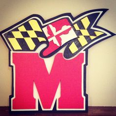 Handmade Oversized Maryland Terps Logo Wood UMD by MrXOXOvintage, $199.00