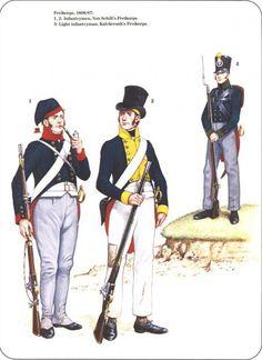 Prussian Reserve, Militia & Irregular Troops 1806-1815_ Freikorps 1806/07 1-2 Infantrymen Von Schill's Freikorps 3-Light infantryman Kalckreuth's Freikorps