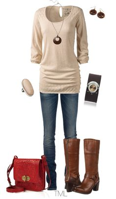 """Untitled #267"" by tmlstyle on Polyvore. Those boots!"