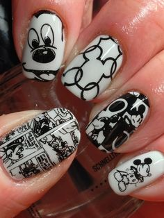 I took inspiration of newly received plates for Day 2's mani...Mickey Mouse! Mickey has been around for many, many years making him vintage appropriate! Eeep! How cute is this? I think this would be sooo cool on all my nails. There' enough images,...
