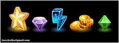 gaming icons by ~larra-vit on deviantART