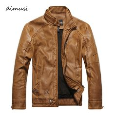 Men Autumn Winter Leather Jacket Motorcycle Leather Jackets Male Business casual Coats Brand New clothing veste en cuir,YA349 #Affiliate