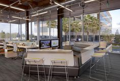 Awesome industrial office design. Tangram Newport Beach