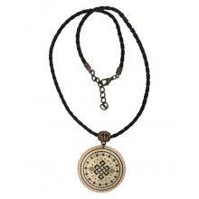 Printed Copper Endless Knot Pendant Necklace