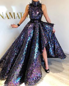 New Arrival Special Celebrity Dresses 2019 High Neck Sleeveless Sequin Asymmetrical Dubai Evening Prom Party Red Carpet Gowns Gala Dresses, Couture Dresses, Evening Dresses, Fashion Dresses, Elegant Dresses, Pretty Dresses, Celebrity Dresses, Fashion Weeks, Beautiful Gowns