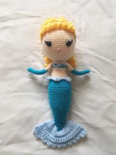 Excited to share this item from my shop: Mermaid Cinderella Doll Cinderella Doll, Yarn Dolls, Granny Square Afghan, Crochet Unicorn, Disney Dolls, Glass Slipper, Crochet Slippers, Cotton Candy, Yarns