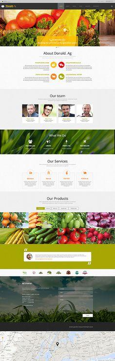 Diese anpassungsfähiges #Joomla Template für #Landwirtschaft mit einem belebenden modernen Layout wird Ihr Unternehmen hervorragend online präsentieren.