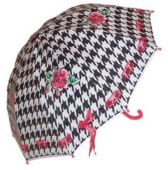 love the houndstooth umbrella
