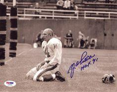 "Y.A. Tittle Autographed 8x10 Photo New York Giants """"HOF 71"""" PSA/DNA Stock"