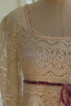 Romántico vestido de encaje #moda #reparación #yolohice #Singer