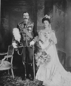 The Royal Collection: Wedding portrait of Prince Alexander of Teck and Princess Alice of Albany, Windsor Castle, 10 F