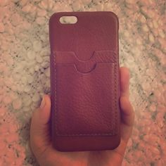 Leather carryall case for iPhone 6 Leather phone case with two credit card slots. I used this case for a few days but just couldn't get used to it! Madewell Accessories Phone Cases