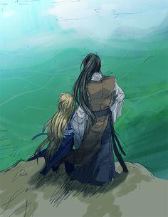 The Twelve Kingdoms Shoryuu and Rokuta/Enki fanart