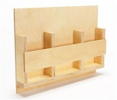"""AW Extra - Hyper-Organize Your Shop - The Woodworker's Shop - American Woodworker.  This is supposed to be a 'Tote for Drill Bit Cases""""  but I think it would be a great remote control holder to attach to the wall."""