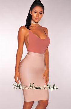 61e5980b7 Nude Bandage Pencil Skirt. Club OutfitsNight OutfitsNew OutfitsFashionable  OutfitsMilitary Ball DressesHot Miami StylesPencil ...