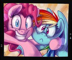 Pinky Pie & Rainbow Dash.