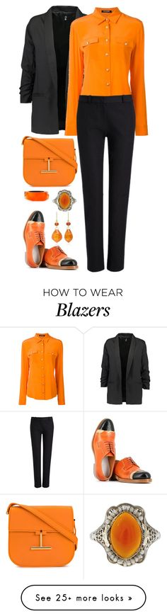 """""""#211"""" by monika-r on Polyvore featuring Maison Margiela, Balmain, Joseph, Tom Ford, Alexis Bittar and chicflats"""