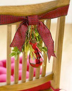 decoracion sillas navidad