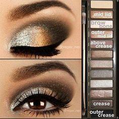 Eye makeup look using Naked2