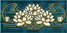 31 Ideas Kitchen Tiles Mosaic Art Nouveau For 2019 Motifs Art Nouveau, Azulejos Art Nouveau, Tile Art, Mosaic Art, Mosaic Tiles, Tiling, Art Nouveau Tiles, Art Nouveau Design, Design Art