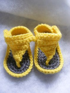 crocheted baby sandal - FREE PATTERN