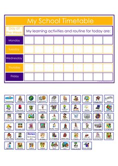 Schedule Cards Editable  Visual Timetable Classroom Management