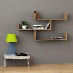 Pallet Furniture Sebastian Oak Wall Shelf - Introducing a new take on minimalism, the Sebastian Wall Shelf brings a unique set of qualities to the table, featuring three fully functional shelves with built-in edge support, a modern tier Oak Wall Shelves, Unique Wall Shelves, Floating Wall Shelves, Display Shelves, Glass Shelves, Wall Shelving, Shelf Wall, Wall Desk, Bathroom Shelves