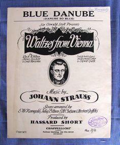 Hey, I found this really awesome Etsy listing at https://www.etsy.com/au/listing/174689601/vintage-sheet-music-blue-danube-johann