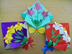 Blog Cantinho Alternativo: Passo a Passo de Buquê de Dobraduras Para o Dia das Mães