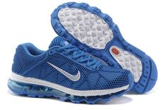 Billige Nike Air Max 2013 løbesko air sole Mesh Danmark blue white
