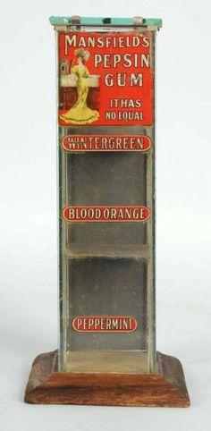 Mansfield Pepsin Gum Counter Display Case. : Lot 1538