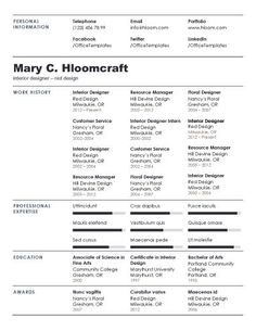 simple resume templates 73 clean samples with great typography and a touch of color