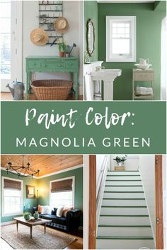 Magnolia Green Paint by Magnolia Home - My Favorite Paint Colors - The Crazy Craft Lady If you're looking for a classic, timeless, and fresh green paint for your next home project, give Magnolia Green paint from Magnolia Home a try. Indoor Paint Colors, Indoor Paint, Green Paint, Favorite Paint Colors, Farmhouse Paint, Paint Colors For Living Room, Magnolia Homes, Magnolia Green, Paint Color Inspiration