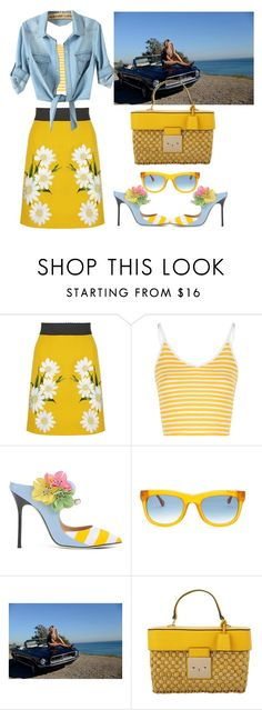 """""""USA"""" by psicomayte30 ❤ liked on Polyvore featuring Dolce&Gabbana, Glamorous, Giannico, Elizabeth and James, Free People and Michael Kors"""