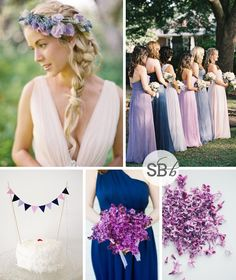 Orchid Blues Inspiration Board Pantone Colour of the Year 2014: Radiant Orchid | SouthBound Bride #radiantorchid #2014weddingtrends #pantone