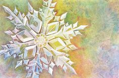 Watercolor Snowflake Step by Step | Sweetbriar SistersSweetbriar ...