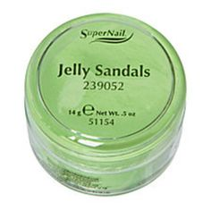 SUPER NAIL JELLY SANDALS - NEON GREEN ACRYLIC .5 OZ